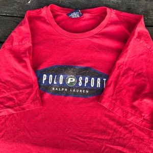 90s Polo Sport logo tee